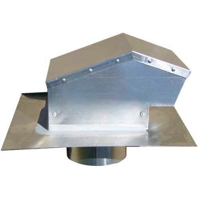 "Speedi-Products Aluminum Roof Cap With Collar EX-RCAC 04 4"" Collar"