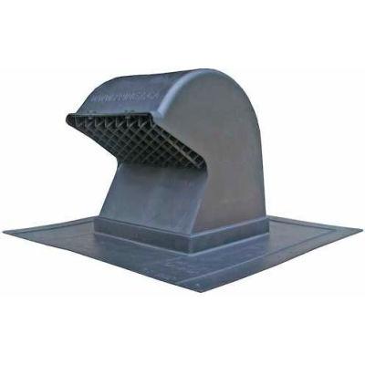 """Speedi-Products Plastic Gooseneck Roof Cap EX-RCG 48 Collar Adapts to 4"""" & 8"""" Pipe"""