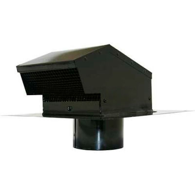 Speedi-Products Galvanized Roof Cap With Collar EX-RCGC 04 Black 4""