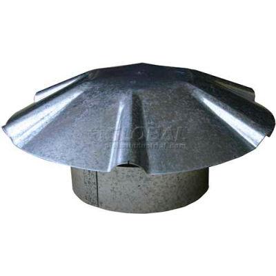 """Speedi-Products Galvanized Umbrella Roof Vent Cap With Collar EX-RCGU 04 4"""""""