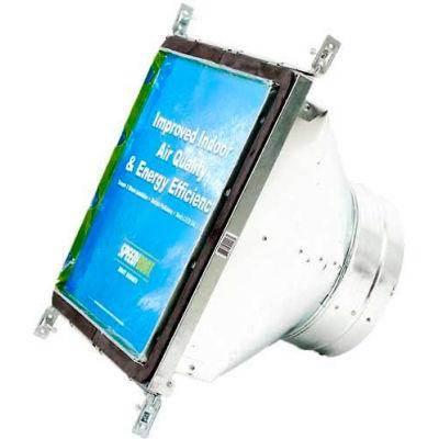 "Speedi-Boot Square To Round Adaptor Register Vent Boot Adj. Hangers SBH-101010 SRA 10"" X 10"" X 10"""