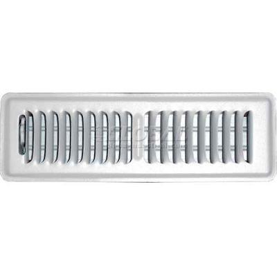 "Speedi-Grille White SG-210 FLW Floor Register With 2 Way Deflection 2"" X 10"""