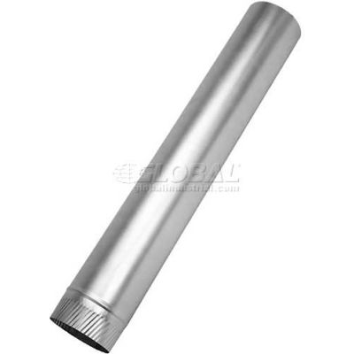 "Speedi-Products Galvanized SM-2860GR 14 Round Sheet Metal Pipe 28 GA 14"" X 60"""