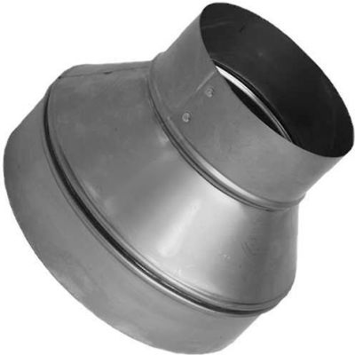 "Speedi-Products Galvanized Plain Reducer SM-RDP 87 8"" X 7"""