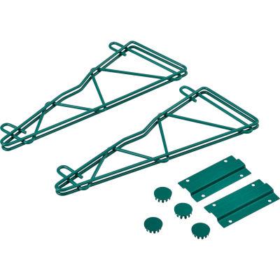 "Nexel® Poly-Green™ 14"" Single Arm Fixed Wall Bracket (Pair)"