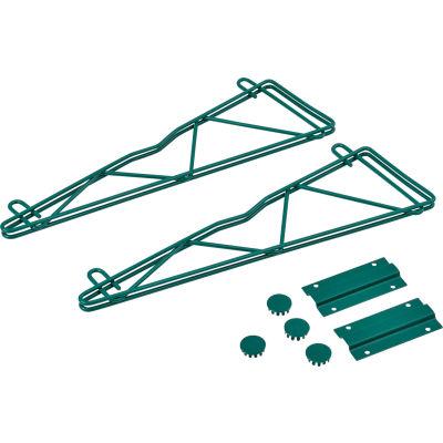 "Nexel® Poly-Green™ 18"" Single Arm Fixed Wall Bracket (Pair)"