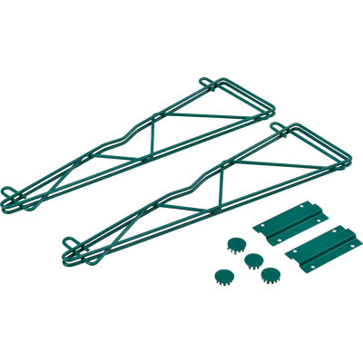 "Nexel® Poly-Green® 21"" Single Arm Fixed Wall Bracket (Pair)"