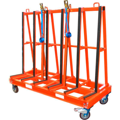 """Abaco One Stop Single Sided A-Frame Truck SSA7247 71-1/4""""L x 25-1/2""""W x 60-1/4""""H"""