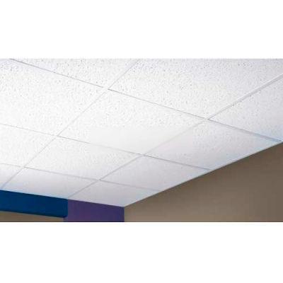 "Directional Fissured Mineral Fiber Ceiling Tile FH-157, Trim Edge, 24""L, 16 QTY"