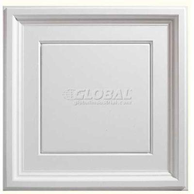 Genesis Designer Icon Coffer PVC Ceiling Tile 753-00, 2'L X 2'W, White - 12/Case