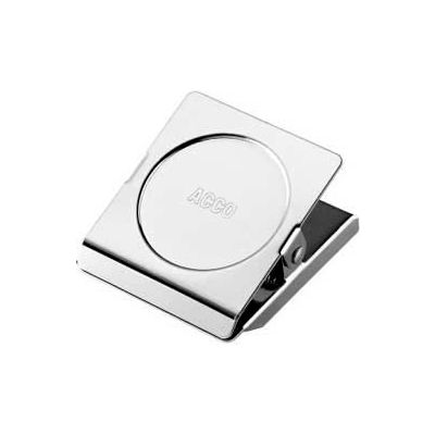"""Acco® Small Magnetic Clip, 1-1/2"""" Width, 7/8"""" Sheet Capacity, Chrome"""