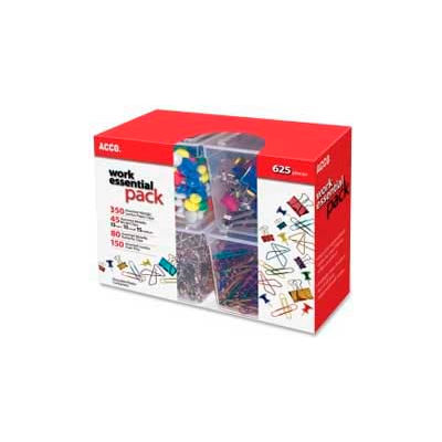 Acco® Work Essential Pack, Assorted, 625 Pieces/Pack