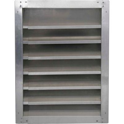 "High Aluminum Fixed-Height Adjustable Width Louver 30"" - AAFL 30-2136"
