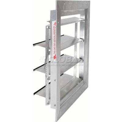 "Aluminum Supply (Intake) Wall Shutter 20"" - CWV-20x20"