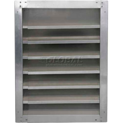 """High Galvanized Fixed-Height Adjustable Width Louver 36"""" - GAFL 36-2436"""
