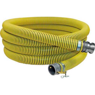 "2"" x 20' Fertilizer Solution Suction / Discharge Hose Assembly w/ C x E Aluminum Cam and Groove"