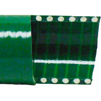 "2-1/2"" Green PVC Water Suction Hose, 50 Feet"