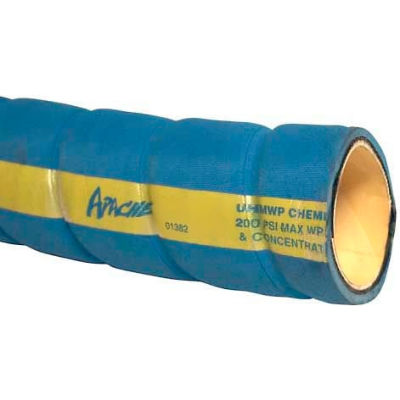 "1"" Dia. Blue UHMW Chemical Hose, 70 Feet"