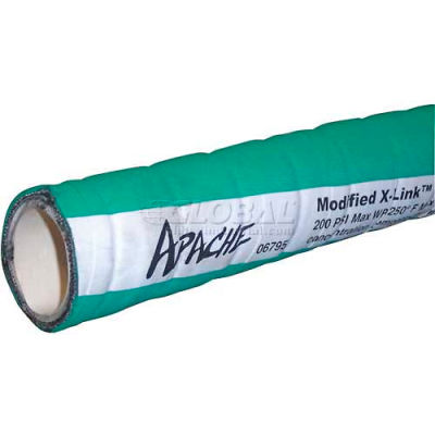 "1"" Dia. Apache Green Mustang Modified X-Link Hose, 80 Feet"