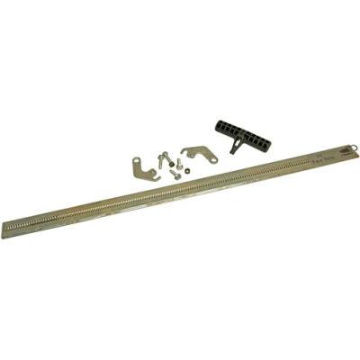 "FLEXCO Roller Lacer Face Strip 24"" (FSMAN2-24), with 1 Lacer Pin, Hook Size; 2-4, U2SP-U3"