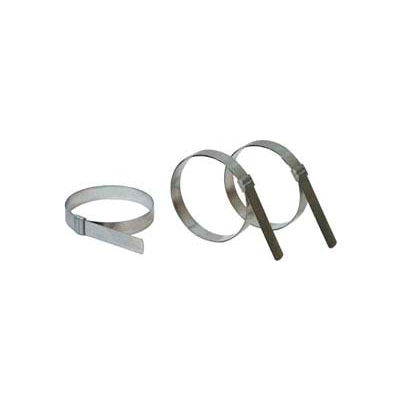 "Apache 40029017 JS3019 13-16"" Band-It Jr. Carbon Steel Preformed Clamp w/ 3/8"" Wide Band"