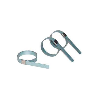 """Apache 40029155 CP1499 3-1/2"""" Band-It Carbon Steel Center Punch Preformed Galv Clamp w/ 5/8"""" Band"""