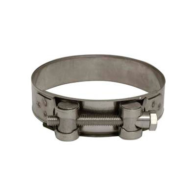 """Apache 43082336 3-5/8"""" - 3-13/16"""" Stainless Steel H.D. Super Clamp w/ 15/16"""" Wide Band"""