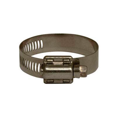 """Apache 48008518 3-1/8"""" - 5"""" 301 Stainless Steel Worm Gear Clamp w/ 9/16"""" Wide Band"""
