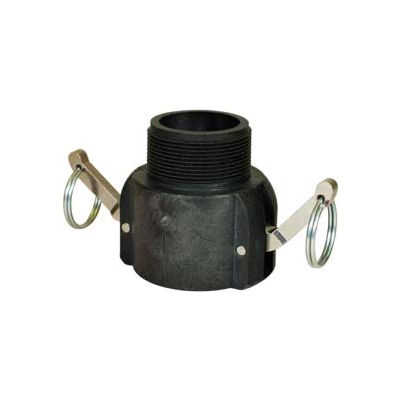 """4"""" B Polypropylene Cam and Groove Coupler x Male NPT"""