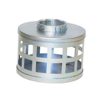 "4"" FNPT Plated Steel Square Hole Strainer"