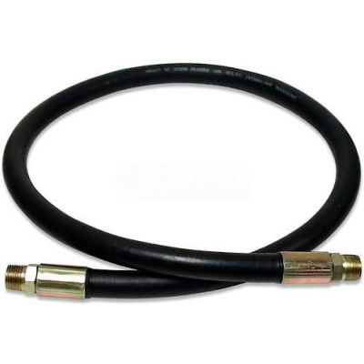 "Apache Hydraulic Hose Assembly 98398244, 100R2AT Cpld., 4000 PSI, 3/8"" MNPT, 3/8"" Hose ID X 72""L"