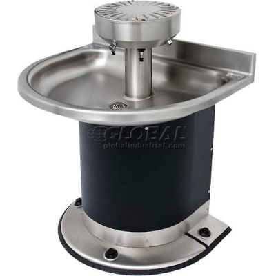 Acorn Engineering Company® Washfountain Semi-Circular, 3 Stations, Foot Operated
