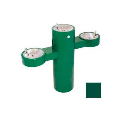 Murdock GRQ45 Barrier Free, Tri-Level Pedestal Fountain, Lead Free Stainless Steel Bubblers, Green