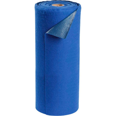 "Brady SPC® AD30100-BLUE TOUGHSORB Light Adhesive Mat, 30""W x 100'L"