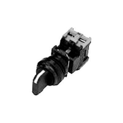 Advance Controls104355, 22mm Non Metal,Non Lit, 3 Pos. Maint. Spring Ret. R/L/Ctr,Sq Knob Switch Blk
