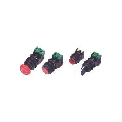 Advance Controls 104427, 22mm Non Metal, Non Lit, 3 Pos., Round Knob Type Selector Switch - Green