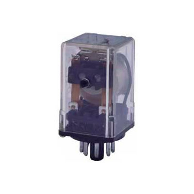 Advance Controls 105884, Relay, 97 Series, H Duty,  DPDT, Blade Terminal, Octal, Push Test, 24 VDC