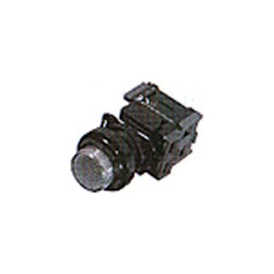 Advance Controls 121226, 22mm Non Metallic Push To Test Pilot Light-Full Volt. Push Button - Yellow