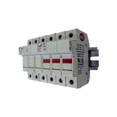 Advance Controls 152408 DIN Rail Fuse Holder (Midget), 3 Pole, Midget Fuse, No Indicator Light