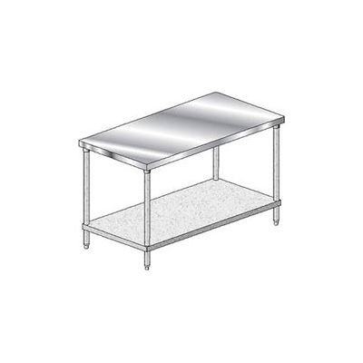 "Aero Manufacturing 1TG-2460 14 Gauge Workbench 304 Stainless Steel - 60""W x 24""D"