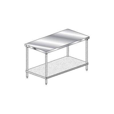 "Aero Manufacturing 1TG-3084 14 Gauge Workbench 304 Stainless Steel - 84""W x 30""D"