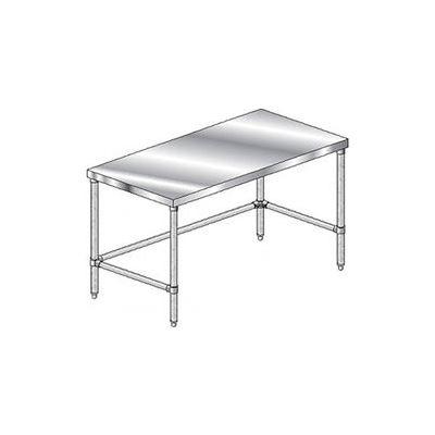 "Aero Manufacturing 1TSX-2472 14 Gauge Workbench 304 Stainless Steel - 72""W x 24""D"