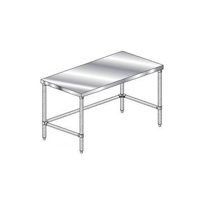 "Aero Manufacturing 1TSX-2496 14 Gauge Workbench 304 Stainless Steel - 96""W x 24""D"