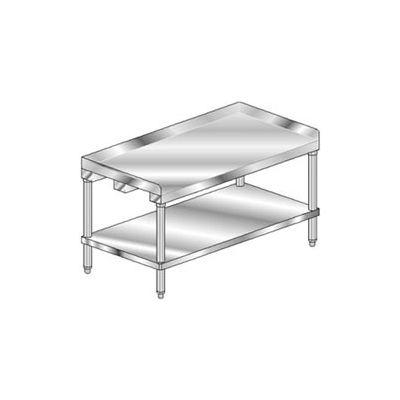 "Aero Manufacturing 2EG-2448 14 Ga Equipment Stand 304 Stainless Steel 2"" Splash Galv Leg/Shelf 48x24"