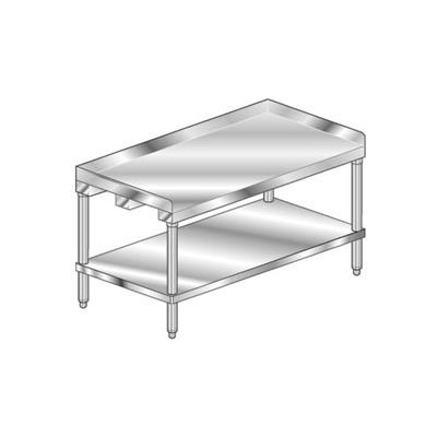 "Aero Manufacturing 2ES-3096 14 Ga. Equipment Stand 304 Stainless Steel - 2"" Backsplash & Shelf 96x30"