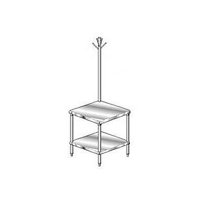 Aero Manufacturing 2MGRU-2424 18 Ga Mixer Stand 304 Stainless Steel - Rack & Galv Legs/Shelf 24x24