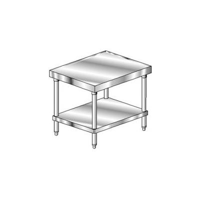 "Aero Manufacturing 2MGU-3036 14 Gauge Mixer Stand 304 Stainless Steel - Galv Frame/Shelf 36""W x 30""D"