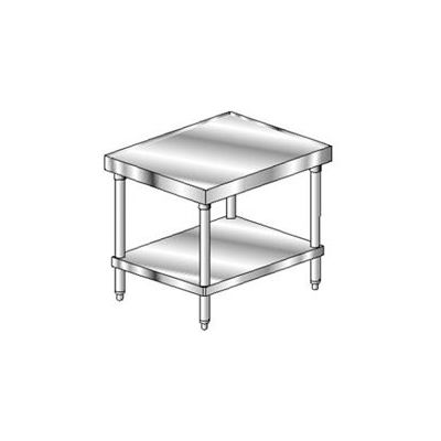 "Aero Manufacturing 2MSU-3024 14 Gauge Mixer Stand 304 Stainless Steel - with Undershelf 24""W x 30""D"