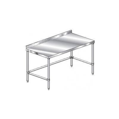 """Aero Manufacturing 2TSSX-2484 - 14 Gauge Workbench 304 Stainless Steel - 2-3/4"""" Backsplash 84 x 24"""
