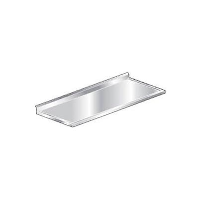 """Aero Manufacturing 3TCBV-2472 72""""W x 24""""D Stainless Steel Countertop with 4"""" Backsplash"""